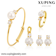 64241 xuping China Wholesale Fashion Dubai Gold Schmuck Perle Set Geschenk für Kinder
