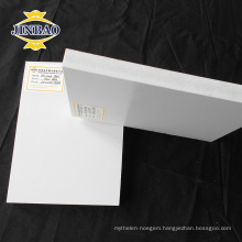JINBAO high gloss white pvc celuka panels forex sheet for Kitchen Cabinet