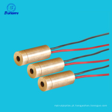 Linha módulo do laser do módulo 650nm 20mw do laser da tensão de funcionamento do poder superior 9V 3vDC 9mw
