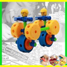 Plástico educativo bloques magnéticos juguete para los niños