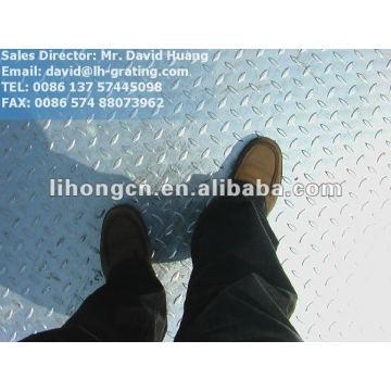 Chapa de chão de xadrez de aço galvanizado