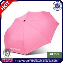 Venda por atacado de pára-sol de mão guarda-chuva dobrável de moda de cor guarda-chuva de proteção uv