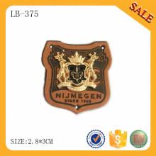 LB375 Tipo al por mayor del cuero real patches de cuero de encargo de los pantalones vaqueros para el dril de algodón