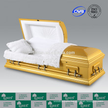 2015 American New Style Wood Casket LUXES Golden Colored Casket