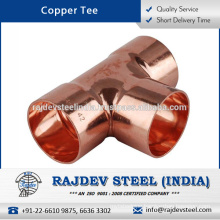 Light Weight Accurate Dimensions Copper Tee Available in Cost Effective Rates