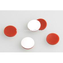 Precio de fábrica con calidad de sonido PTFE / septa de silicona 9 * 1 mm para HPLC frascos de muestra de 1,5 ml / 2 ml