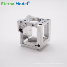 EternalModel precision custom aluminum CNC milling machining service with red anodized aluminum machined parts