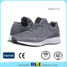Forro de tecido respirável atlético com sapatos de malha superior