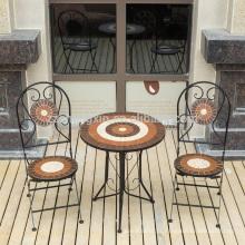 Conjunto de mesa de mosaico de mobiliário de jardim real portátil para jardim real