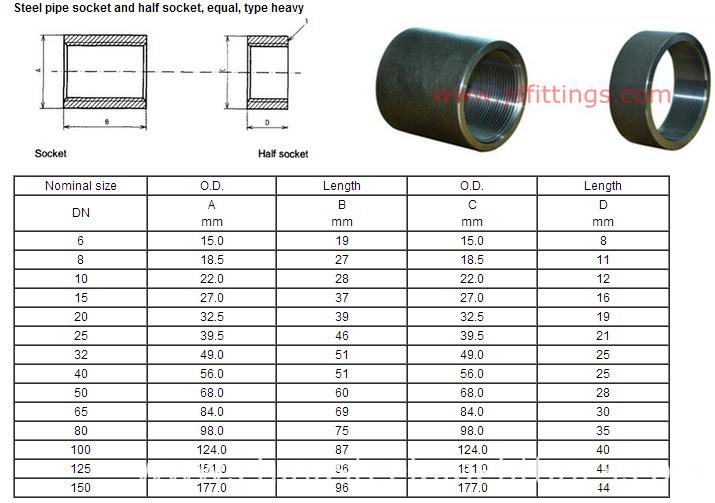 Din 2986 En 10241 Steel Pipe Socket Coupling China