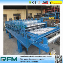 FX eps and rock wool roof and wall sandwich panel roll forming machine