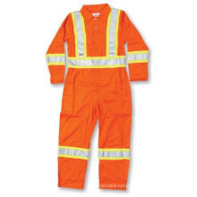Orange 100% Cotton Coverall with Reflective Tape
