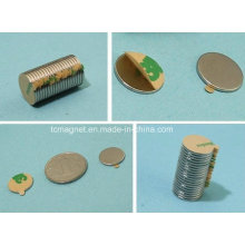 Imanes de disco con cinta adhesiva