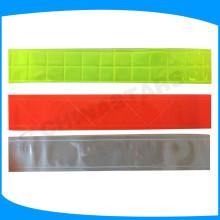 Fita de PVC reflexivo, micro prisma material reflexivo para vestuário de segurança