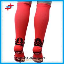 Rote Anti-Pantoffel Sport Socken Kompression Herren Socke benutzerdefinierte Logo