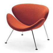 Fauteuil de Pierre Paulin Orange Slice