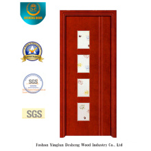 Chinese Style Steel Door with Four Glass Kitchen (s-1025)