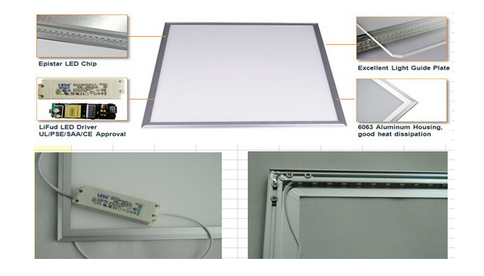 Ultra Thin 10W 12W 20W Aluminum Square LED panel light