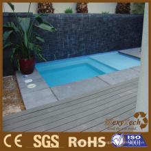Decking quente da venda WPC para a piscina, telhas de revestimento exteriores