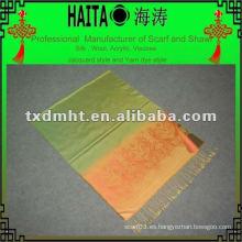 Bufanda de seda de seda con textura de urdimbre