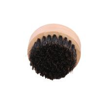 nova marca atacado rosto personalizado homens rodada javali de madeira pêlos barba escova