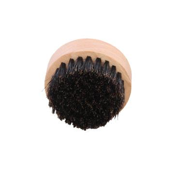 Nouvelle marque en gros visage personnalisé mens rond en bois poils de poils de barbe