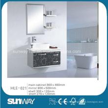 Diseño de moda pared colgada de acero inoxidable vanidad con espejo