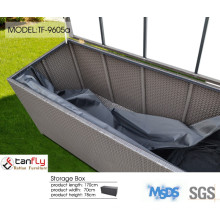 Tanfly promotional high quality outdoor furniture rattan storage box.
