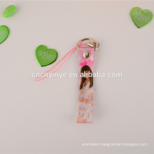 Sex mobile phone key chain/strap with cleaner for girls