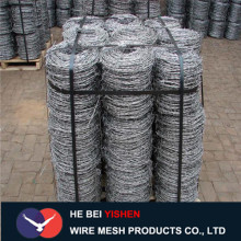 Hot dipped galvanized barbed wire fencing protection