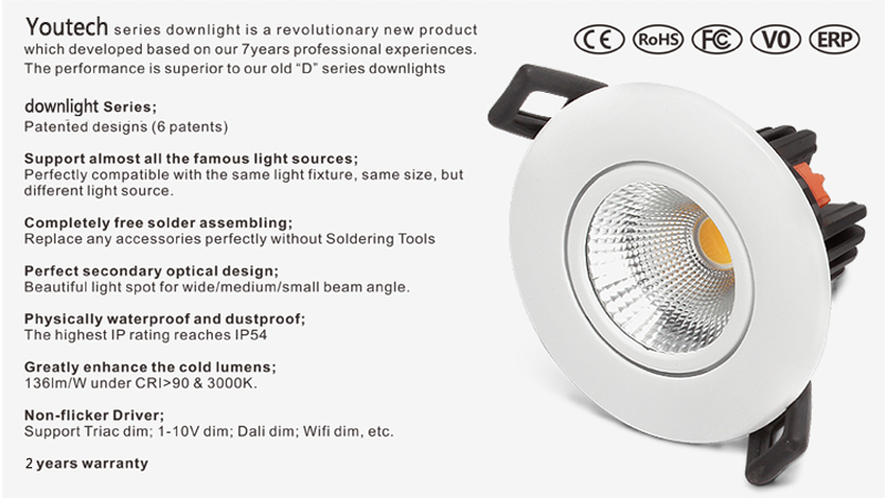 Pinhole led downlight