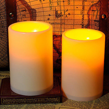 flat top battery operated flameless LED candle