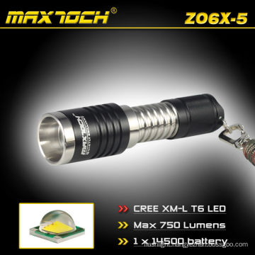 Maxtoch ZO6X-5 Cree XM-L T6 600 Lumens Portable Aluminum Torch XM-L Zoom Light