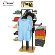 Contate-nos hoje para aprender o que podemos ajudar Garment Shop Chapéu Roupa pendurado Loja de varejo Display Unidade Vestuário Display Racks