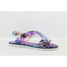 Newest Multi Colors Flat Beach Slipper Lady Sandal