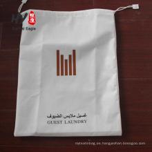 bolsa de cordón ultrasónico no tejido de lujo de la camiseta del sello térmico