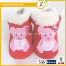 2015 vente en gros vente chaude 0-24 mois chaussures thermiques très doux chaussures en mocassin pour bébé en tissu