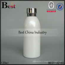 Bouteille en verre laiteuse de 120ml pour l'emballage cosmétique, bouteilles vides d'emballage, bouteille cosmétique de soins de la peau de 40ml