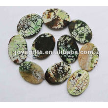 Perles ovales d'agate 40x30x5mm