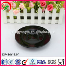 5.9 Inch customized logo ceramic plates manufacturer