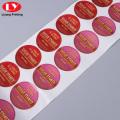 Custom Design Colored Sticker Paper Lable Printing