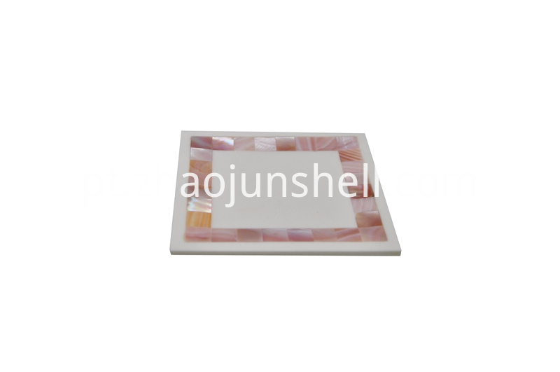 pink shell soap dish