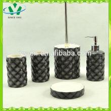 Elegant design quality marble bathroom accessory set