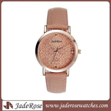 Flower Engrave Watch Ladies Watch Rosegold Watch (RA1266)