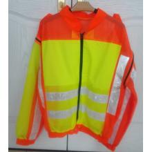 Long sleeve reflective safety jacket