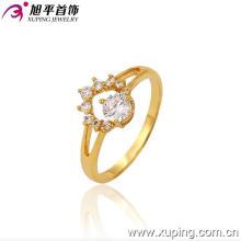 Xuping Fashion Engagement 24k bague en pierres précieuses plaqué or