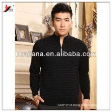 Fashion zip pullover Men's antipilling cashmere sweater