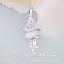 Collier en or blanc 18 carats bijoux bijoux collier dubaï en stock Bijoux plaqué rhodium est votre bon choix