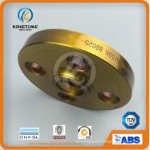 Resbalón de acero al carbono A105n en reborde forjado con brida a ASME B16.5 (KT0402)