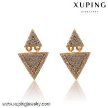 Moda de lujo en forma de triángulo CZ pendientes de joyería de imitación especial Studs 91270